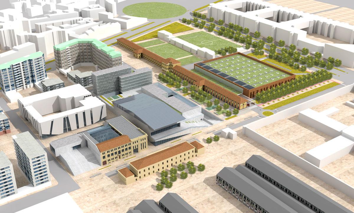 Rendering del progetto area ex-Westinghouse